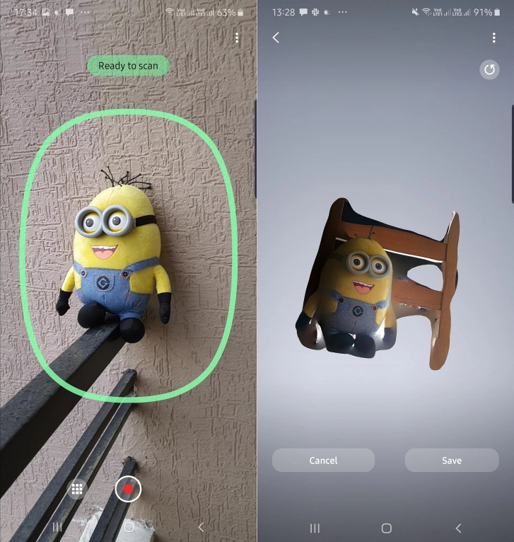 Samsung lance une application de numérisation 3D pour le Galaxy Note 10+