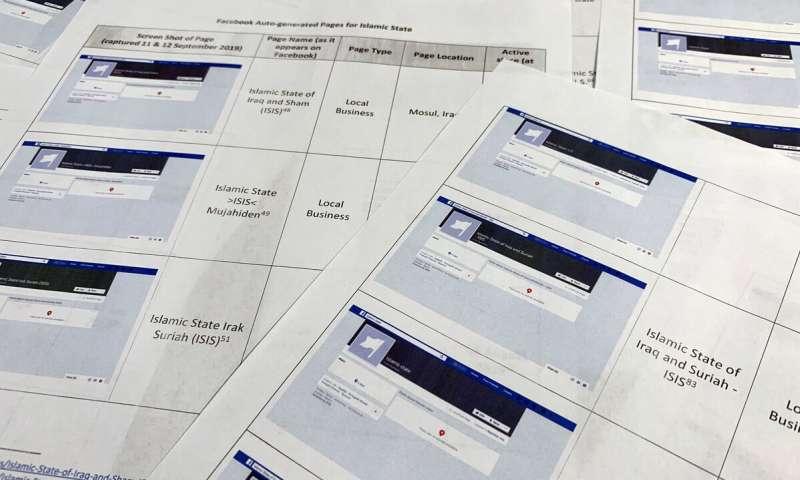 Pages auto-générées sur Facebook pour l'État islamique, Al-Qaïda