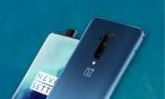 Une image de presse OnePlus 7T Pro présente des fuites et affiche une couleur bleu azur