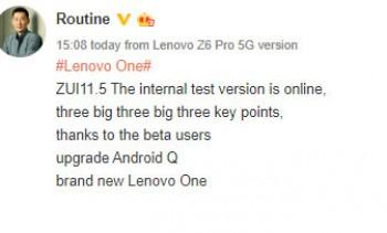 La version bêta de Lenovo ZUI 11.5 est maintenant disponible avec Lenovo One