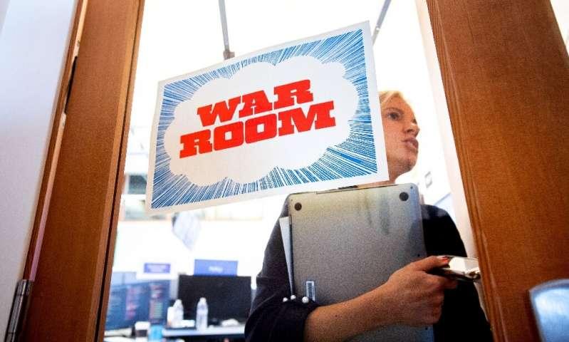 """En 2018, Facebook a mis en place une """"salle de guerre"""" pour lutter contre la désinformation, un problème croissant sur les plateformes de"""