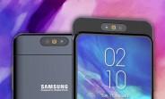 La vidéo du Samsung Galaxy A90 montre un curseur avec un appareil photo rotatif
