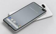 Le protecteur d'écran Google Pixel 4 montre une caméra selfie à double perforation