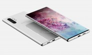 Le Samsung Galaxy Note10 Pro affiche un affichage perforé et une caméra quadruple