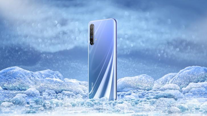 Le design Realme X50 5G révélé, une image en direct confirme le scanner d'empreintes digitales monté sur le côté