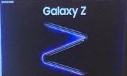 L'affiche promo du Samsung Galaxy Z apparaît
