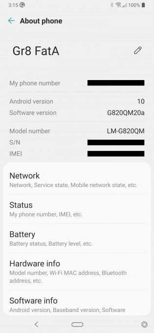 Mise à jour Android 10 pour le LG G8 ThinQ débloqué aux États-Unis