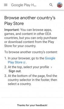 Nouvelle option Google Play pour les utilisateurs de l'EEE
