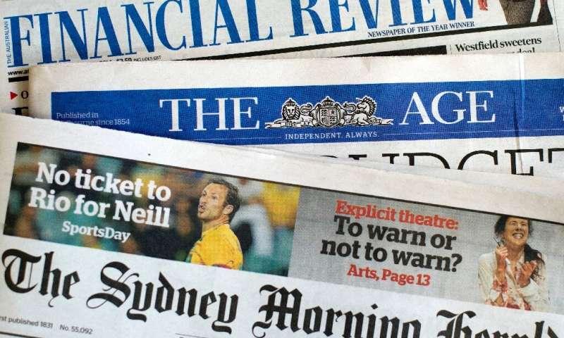 Le gouvernement a déclaré que `` rien de moins que l'avenir du paysage médiatique australien n'est en jeu avec ces changements ''