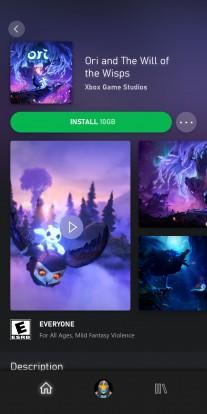 Diffusion de jeux xCloud sur Android