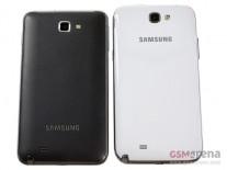 Samsung Galaxy Note II à côté de la note d'origine