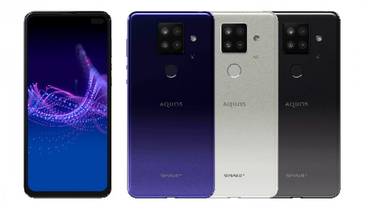 Sharp Sense4 Plus à gauche, violet, blanc, noir