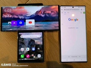 De gauche à droite: Samsung, LG Wing * LG Wing, Samsung