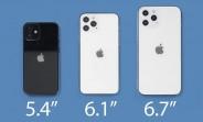 Les deux iPhone 12 de 6,1 pouces seront lancés en premier, 5.4
