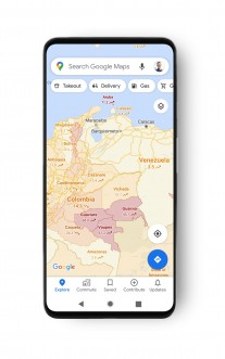 Interface Google Maps avec COVID-19 Info