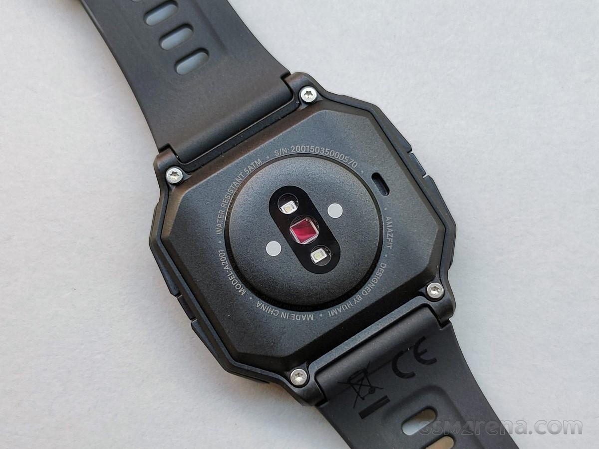 Connecteurs de charge et capteur de fréquence cardiaque optique PPG Bio-Tracking sur Amazfit Neo