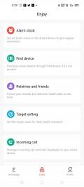 Données et paramètres d'Amazfit Neo dans l'application Android d'Amazfit
