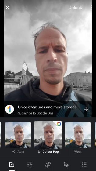 Vous avez besoin d'un abonnement Google One pour utiliser Color Pop avec des photos sans informations de profondeur