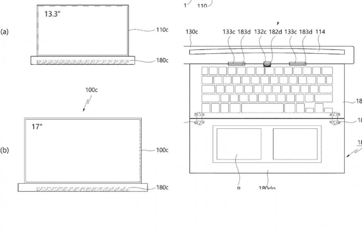 LG brevète un ordinateur portable de 17 pouces avec écran roulant