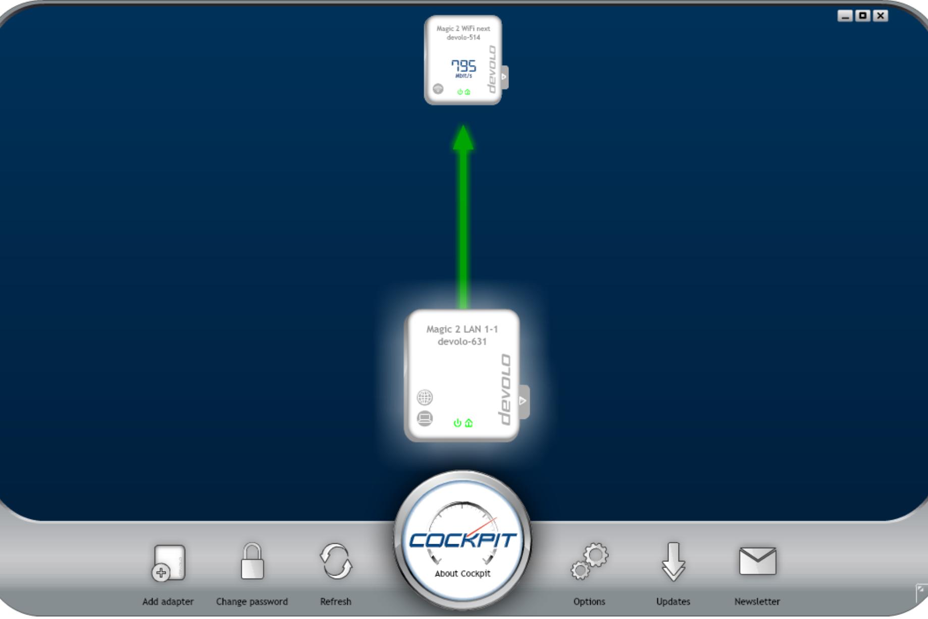 Devolo Magic 2 WiFi suivant Devolo Cockpit