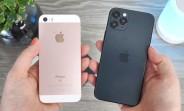 Les mannequins iPhone 12, 12 Pro et 12 Pro Max affichés en vidéo, comparés aux anciens iPhones