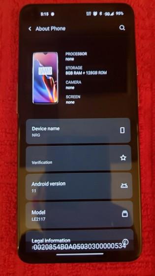 Prototype OnePlus 9 5G