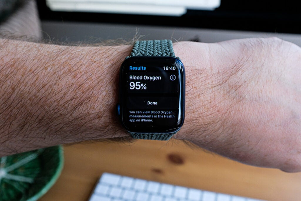 Apple Watch 6 interface oxygène dans le sang