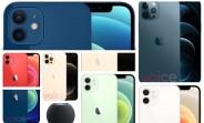 Les images de tous les modèles Apple iPhone 12 fuient, montrent toutes les couleurs