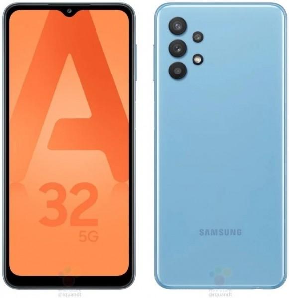Samsung Galaxy A32 5G apparaît dans des rendus de presse colorés