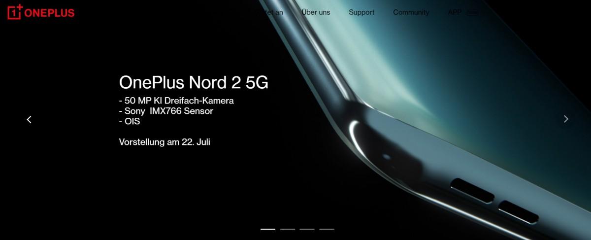 OnePlus Nord 2 fuit en rouge