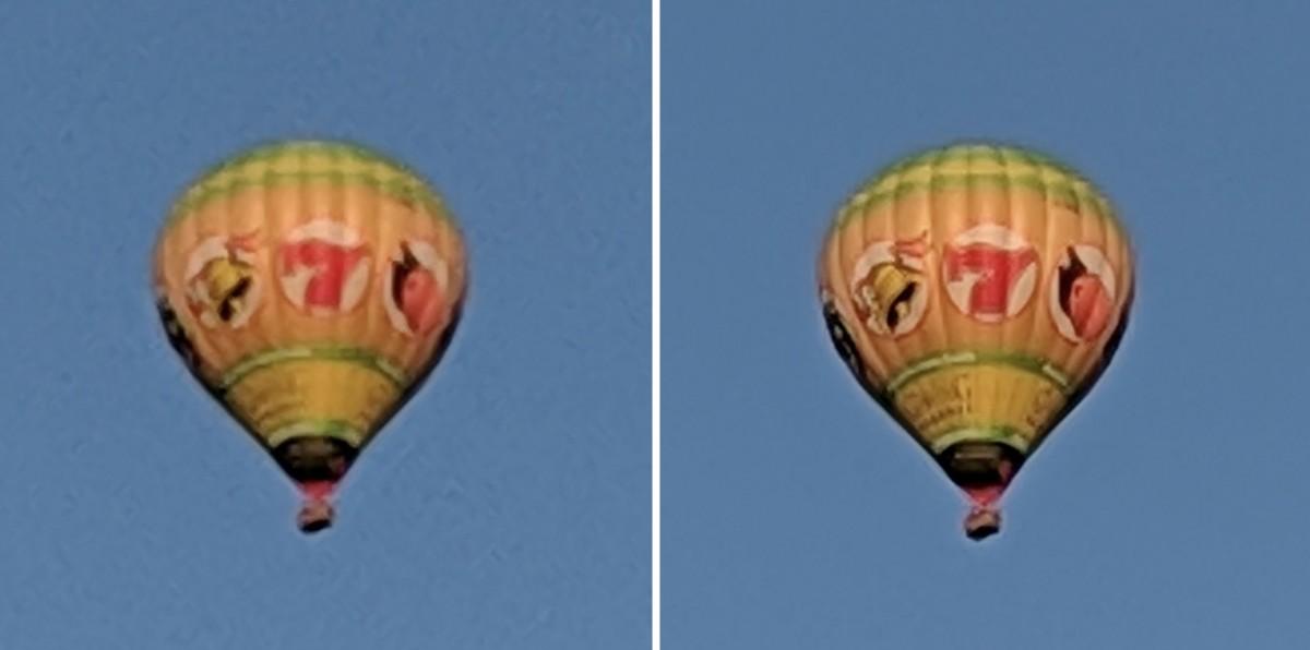 Pixel2 (à gauche) et Pixel3 (à droite), tous deux utilisant un capteur de 12MP