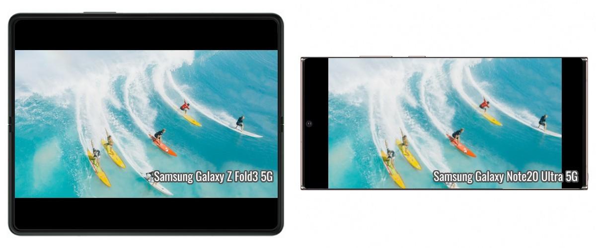 Comparaison de la taille de la vidéo: Galaxy Z Fold3 contre Z Flip3 contre Note20 Ultra contre S21 Ultra