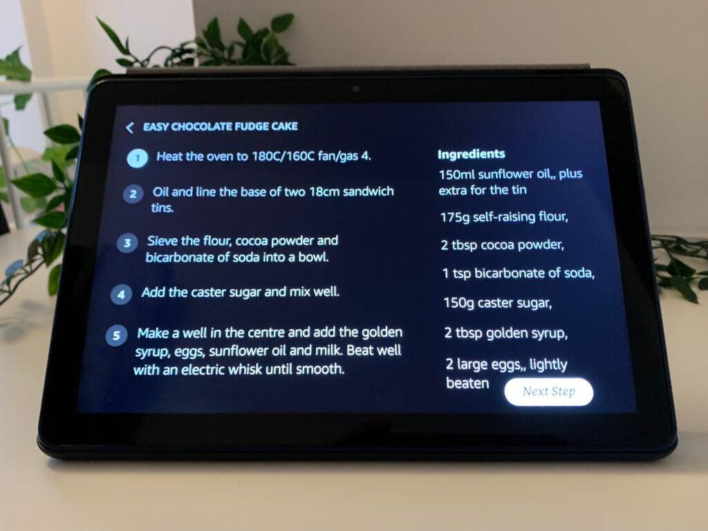 Recettes du mode spectacle Amazon Fire HD 10