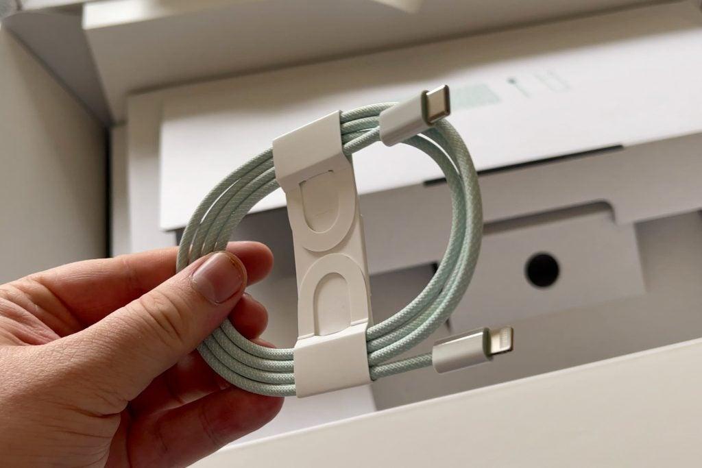 Câble tressé USB-C vers Lightning pour iMac 24 pouces
