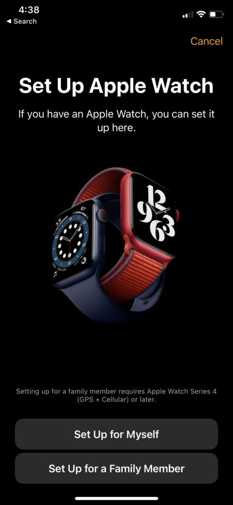 paire Apple Watch configurée pour moi-même