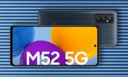 Lancement du Samsung Galaxy M52 5G en Inde