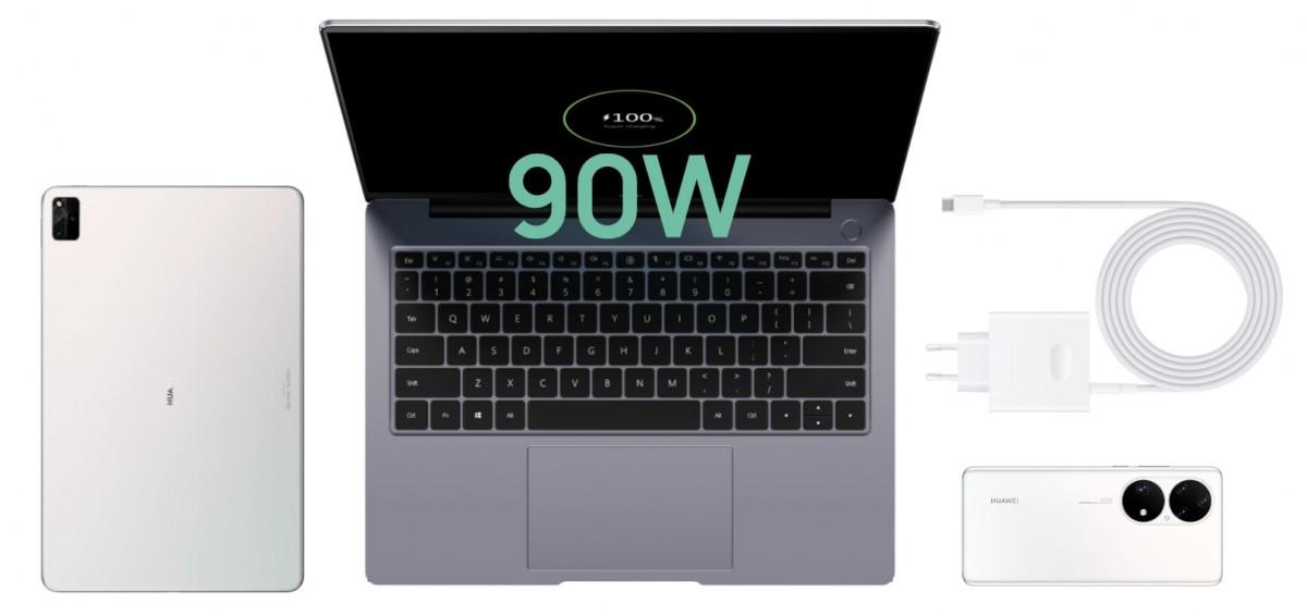 Le Huawie MateBook 14s est doté d'un écran tactile 90 Hz 14,2 '', d'un processeur Intel i5 ou i7 de 11e génération