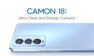 Tecno Camon 18 Premier apporte un écran AMOLED 120 Hz, une caméra à cardan et un périscope