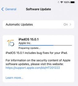 iOS 15.0.1 et iPadOS 15.0.1